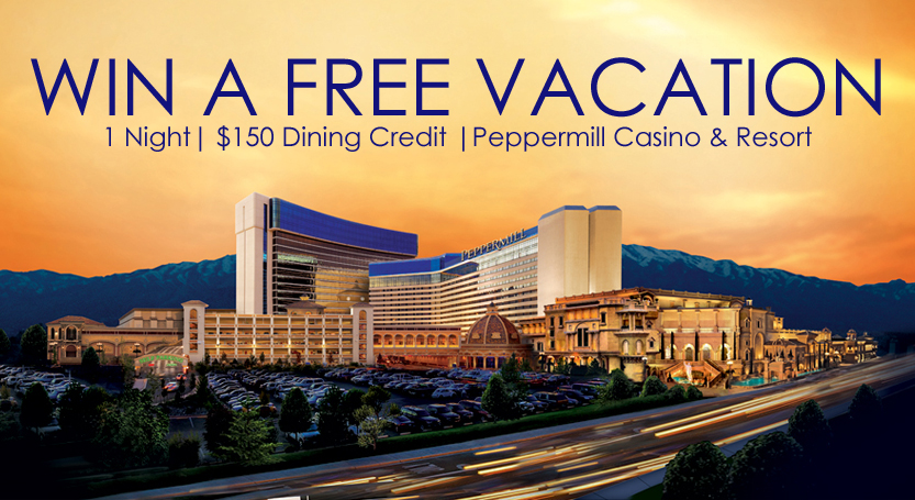 Win a free night's stay and a $150 dining credit at the Peppermill!